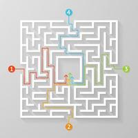 labyrinthe labyrinthe symbole forme illustration vectorielle. vecteur