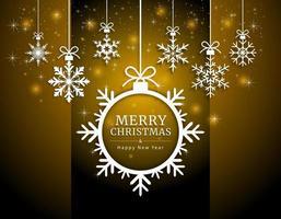 Joyeux Noël et bonne année carte papier découpé style. illustrations vectorielles.