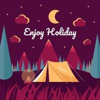 Nuit Camping illustration vectorielle vecteur