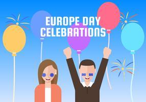 Vecteurs exceptionnels de la Journée de l'Europe vecteur