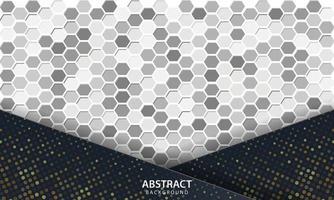 fond abstrait sombre avec des couches de chevauchement noires. texture avec fond texturé hexagonal. vecteur