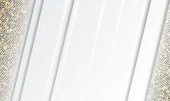 vecteur de fond blanc abstrait. vecteur de conception de concept élégant. texture avec décoration d'élément de points de paillettes d'argent
