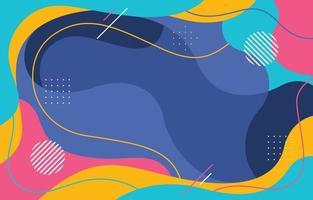 fond fluide coloré abstrait vecteur