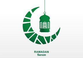 Fond de lanterne de Ramadan vecteur