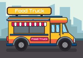 Illustration de camion de nourriture vecteur