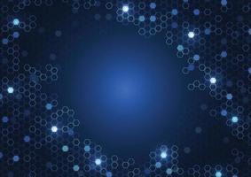 abstrait hexagonal composé de cellules, structure moléculaire, concept polygonal de technologie. illustration vectorielle