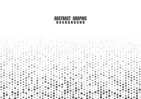 points noirs motif demi-teinte fond blanc. toile de fond de technologie futuriste abstraite. illustration vectorielle vecteur