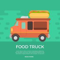 Illustration vectorielle de nourriture plat camion vecteur