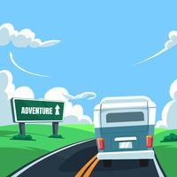 vecteur de voyage road tripkswagen