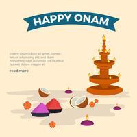 Illustration vectorielle de plat heureux Onam vecteur