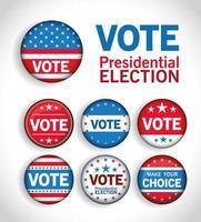 ensemble de boutons de vote vecteur