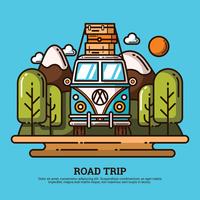 Illustration de Road Trip vecteur