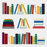 illustration de la pile de livres vecteur