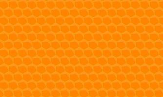 fond orange en nid d'abeille hexagone vecteur