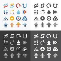 icônes de flèche définir la conception de vecteur. vecteur