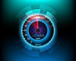 fond de mouvement de compteur de vitesse numérique et analogique vecteur
