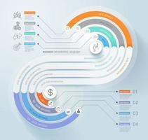 arrière-plan du modèle de chronologie infographie entreprise. illustrations vectorielles. vecteur