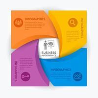 modèle de conception infographie entreprise. illustration vectorielle. peut être utilisé pour la mise en page du flux de travail, le diagramme, les options de nombre, les options de démarrage, la conception Web