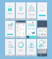 éléments de conception d'interface et d'interface utilisateur. illustrations vectorielles. vecteur