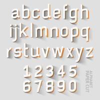 dessins découpés en papier alphabet minuscules vecteur