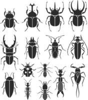 jeu d'icônes d'insectes. illustrations vectorielles. vecteur
