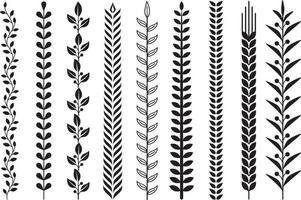 illustrations vectorielles de feuilles nature modèle.