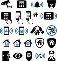 icônes de réseau de système de sécurité. illustrations vectorielles. vecteur
