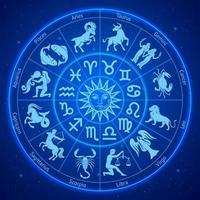 cercle des signes du zodiaque astrologie. illustrations vectorielles.