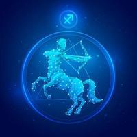 icônes de signe du zodiaque Sagittaire. vecteur