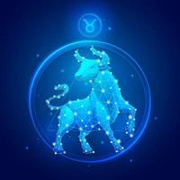 icônes de signe du zodiaque taureau. vecteur