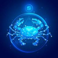 icônes de signe du zodiaque cancer. vecteur