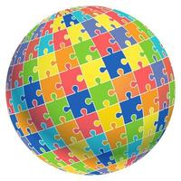 arrière-plan du modèle de boule de puzzle. illustrations vectorielles.