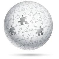 sphère de globe de puzzle. illustrations vectorielles.