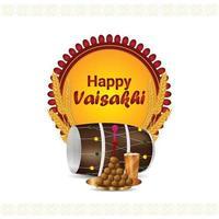 carte de voeux et fond de célébration de vaisakhi heureux