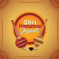 fond créatif de joyeux hanuman jayanti