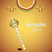 Hanuman jayanti célébration carte de voeux et arrière-plan