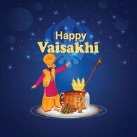 illustration créative de la joyeuse célébration de gudi padwa vecteur