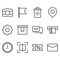 icône simple liée à la boutique en ligne