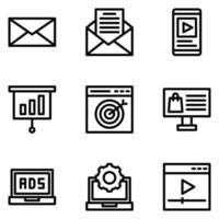 pack de vecteur de marketing numérique