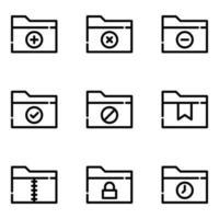 jeu d'icônes de fichiers et dossiers