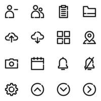 jeu d'icônes d'interface utilisateur mobile vecteur
