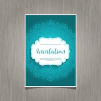 Fond d'invitation décoratif vecteur