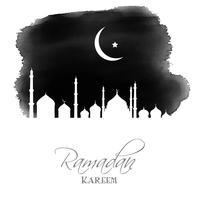 Fond d'aquarelle Ramadan Kareem vecteur