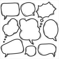 bulle de dialogue bande dessinée vecteur