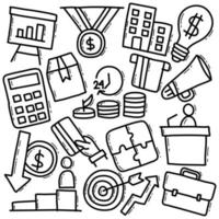 pack d & # 39; icônes d & # 39; entreprise dans un style doodle
