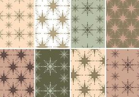 Vintage Holiday Illustrator Patterns vecteur
