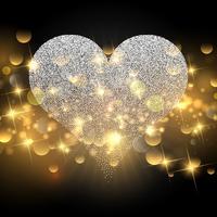 Scintillement coeur pour la Saint Valentin vecteur