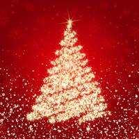 Arbre de Noël scintillant vecteur