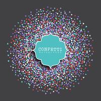Fond de confettis vecteur