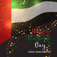 Fond décoratif pour la célébration de la fête nationale des EAU vecteur